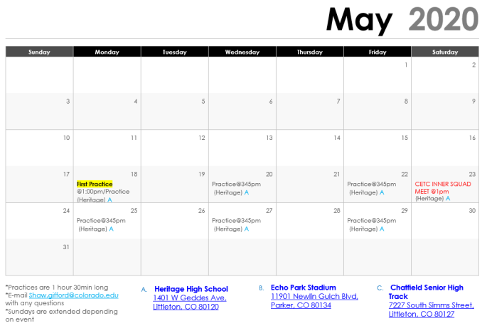2020_May Schedule